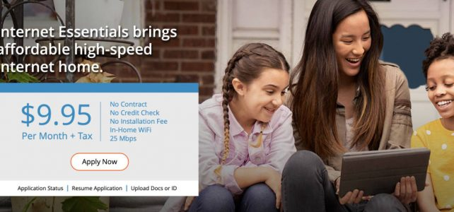 Comcast offering free internet for 2 months for Low-Income Families